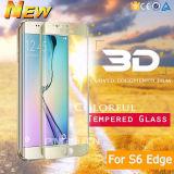 2.5D 9H لسامسونج غالاكسي S6 حافة زائد 3D منحني غطاء كامل الزجاج المقسى حامي الشاشة