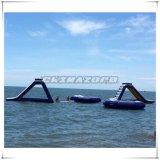 2016 brinquedos infláveis gigantes quentes do parque do Aqua da corrediça de água do verão