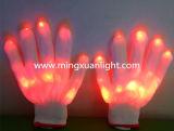 Bunte LED Beleuchtung-blinkende Handschuhe des Tanz-Erscheinen-