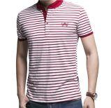 T-shirt fait sur commande de polo de coton de vente en gros de piste de mode de logo de broderie