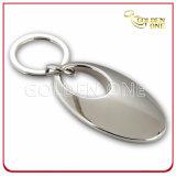 Förderndes Geschenk-Inner-Leerzeichen-Nickel überzogener Metalschlüssel-Halter
