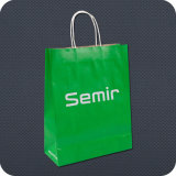 Printed su ordinazione Kraft Paper Bag con Twist Handle