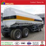 3車軸炭素鋼の販売のための物質的な40-55cbm石油燃料のタンク車のトレーラー