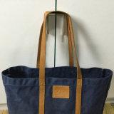 Alta qualidade feita sob encomenda saco de Tote encerado da lona para senhoras