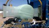 película fundida do envoltório da ensilagem da cor verde do Celadon 750mm*1500m*25um para a prensa de alta velocidade