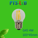 Bulbo del filamento de G45 2W 4W 210-400lm Dimmable LED