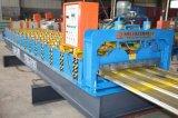Roulis en acier enduit par couleur trapézoïdale de tuile de toit formant la machine