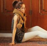 Tendenza Knitting Corea New Winter Warm Tassels Scarf Thicken Wool Knitting Scarves per Lady