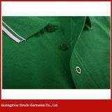 Fato curto personalizado das camisas de polo do Mens do algodão da luva (P176)