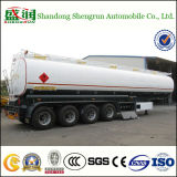 4 Axels Bulk 60000liter Diesel Fuel Tanker Semi Trailer