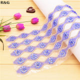 Rhinestone Embellishments Hot Fix Crystal Rhinestone Mesh Trimming for Dresses