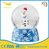 De Bal van het Water van het Glas van Kerstmis van Polyresin van de Bal van de Sneeuw van Kerstmis voor Gift