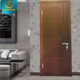 Style moderne en bois massif Composite HDF Hôtel Porte Appartement Porte Porte d'école pour le Moyen-Orient (ZX-09)