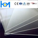 Bajo hierro textura Arco panel de cristal templado para el Módulo Solar