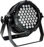 LED PAR Light 54*3W RGBW WaterproofはAlu 8CHを停止するCast