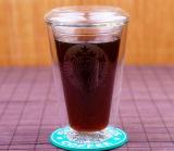 Doppel-wandige Borosilicat-Glas-Starbucks-Kaffeetasse 200 - 400ml
