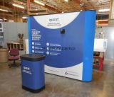 Tradeshow-Hintergrund-Gewebe-Vinylineinander greifen-Fahnen-Bildschirmanzeige oben knallen, welche die schnelle einfache Anlieferung kundenspezifisches Ausstellung-Gerät tragen