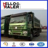 HOWO 8 x 4 336HP는 연료 소비 디젤 엔진 팁 주는 사람 덤프 트럭을 낮춘다
