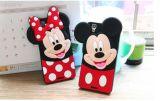iPhoneのためのかわいい漫画3D Minnie Mickeyの柔らかいケイ素の箱5 5s 6 6s 6plus 6sと