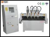 Máquina do router do CNC da madeira compensada do MDF com trabalho de quatro eixos