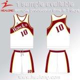 Любая нестандартная конструкция Jersyes баскетбола сублимации клуба команды Mens логоса установленная