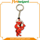 Customized Design Logo PVC Keychain