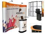 Tradeshow-Hintergrund-Gewebe-Vinylineinander greifen-Fahnen-Bildschirmanzeige oben knallen, welche die schnelle Anlieferung, die einfach ist, das kundenspezifische Ausstellung-Gerät tragen, das Produkt bekanntmacht