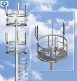 Acciaio elettrico unipolare galvanizzato Palo di telecomunicazione