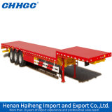 4 eixos 80 Tons Low Bed Semi Trailer com Hydraulic Ladders para Sale