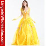 Princess Costume Costume Bella причудливый платья партии Halloween женщин люкс