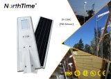 Im Freienbeleuchtung-Solar des Bewegungs-Fühler-PIR LED angeschalten