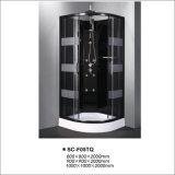 Cabine de banho de vapor Casa de caixa com alumínio preto