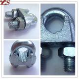 Clips galvanisés de câble métallique en métal de l'IMMERSION chaude DIN 741
