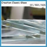Glace Tempered ultra claire pour la glace en verre de construction/porte avec la conformité