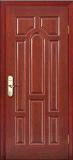 Bauholz-Tür /Interior u. feste hölzerne außentür für Hotel