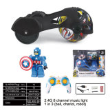 2.4G 음악 빛 RC 빌딩 블록 전쟁 차 장난감 로봇