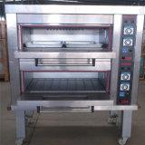 Horno eléctrico de la cubierta de la hornada del pan del gas en el equipo de la hornada