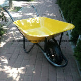 Hot SaleのためのStrong Tube Legs Wheelbarrow Hsd-2の黄色いStainless Steel Tray