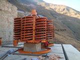 Separação mineral da ilmenite do concentrador que lava a rampa espiral para a fábrica de tratamento do minério do ouro