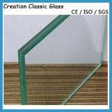 vidro laminado endurecido 10-12mm para a balaustrada/o cerco