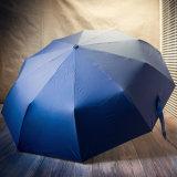 자동적인 열려있는 까만 접히는 유형 골프 우산 Rum0704-09