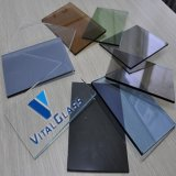 Azul/Grey/Green/Bronze Float Glass Stained/Tinted Float Glass para Building Glass