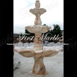 Simple Sunset Red Stone Fountain for Craft Mf-379