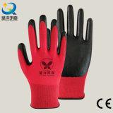 Nylon раковина Natrile покрыла перчатки работы безопасности перчатки трудные защитные (N7003)