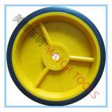 6 Kind-Spielzeug-Schubkarre-Körper-Rad des Zoll-Plastic/PP/Nylon