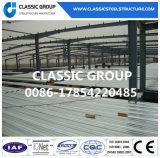 Costruzione della struttura d'acciaio del magazzino del gruppo di lavoro di fabbricazione di disegno con la certificazione del Ce
