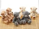 작은 견면 벨벳 동물성 장난감 소형 박제 동물 Keychains
