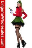Сексуальный Costume Cosplay самолет-истребителя космоса женщин для платья партии Halloween