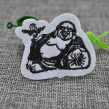 Custom Sew on Back Embroidery Woven Patch for Clothing Accessories