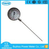 termometro bimetallico di Wika del collegamento della parte inferiore dell'acciaio inossidabile di 100mm